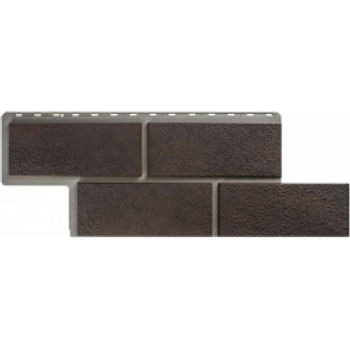 Фасадные панели Альта-Профиль, Камень Неаполитанский, коричневый