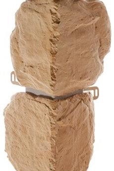 Наружный угол бутовый камень