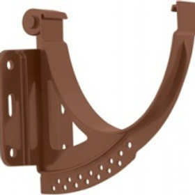 Кронштейн желоба ПВХ, стандарт, коричневый