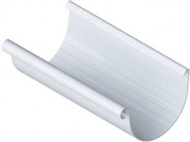 Желоб ПВХ водосточный, длина 4 м, диаметр 125 мм, серия элит, белый