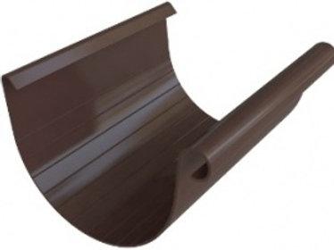 Желоб ПВХ водосточный, длина 4 м, диаметр 125 мм, серия элит, коричневый