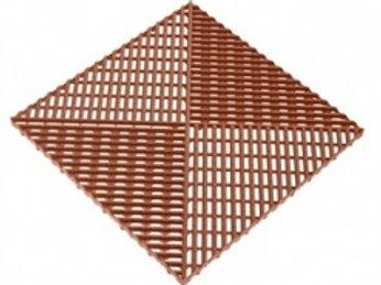 Решётка с дополнительным обрамлением. Цвет коричневый