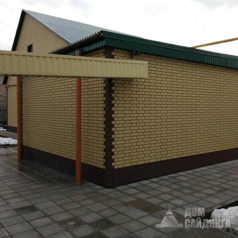 Дома в оренбурге обшитые фасадными панелями Альта-Профиль