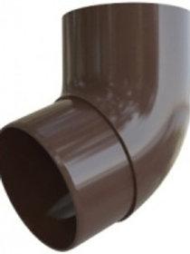 Колено трубы 67, элит, коричневое