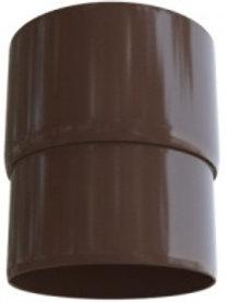 Муфта трубы, элит, коричневая