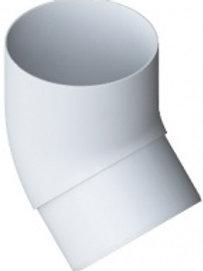 Колено трубы 45, элит, белое