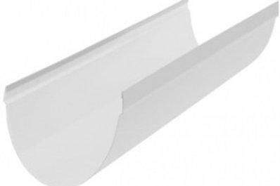 Желоб ПВХ водосточный, длина 3 м, диаметр 115 мм, серия стандарт, цвет бел