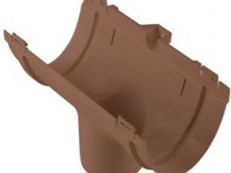 Воронка водосточного желоба стандарт коричневая