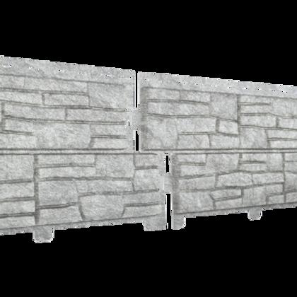 Фасадные панели Стоун Хаус Сланец Ю-Пласт, Светло-серый