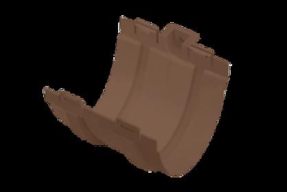 Муфта желоба, стандарт, коричневая