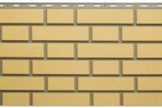 Фасадные панели Альта-Профиль, Кирпич Клинкерный, желтый