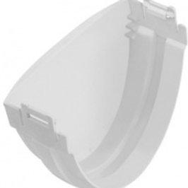 Заглушка ПВХ водосточного желоба, стандарт, белая
