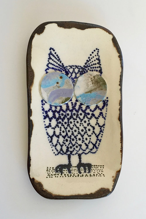 Lucy loves owls - small serving plate