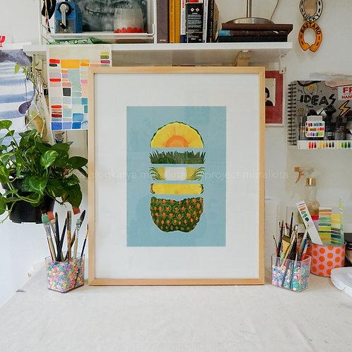 Art Print - Natural Pineapple! (Color Code - B)