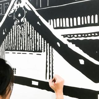 Proses pengerjaan mural (spot 3)