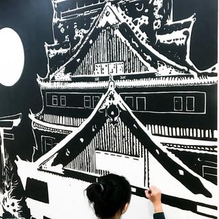 Proses pengerjaan mural spot 3