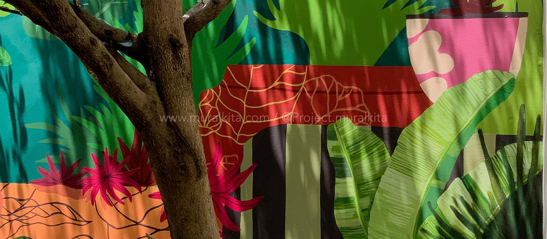 Backyard Mural - Miss Mandara