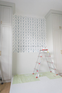 Mrs. Clara's Bedroom - Simple Chevron Pattern