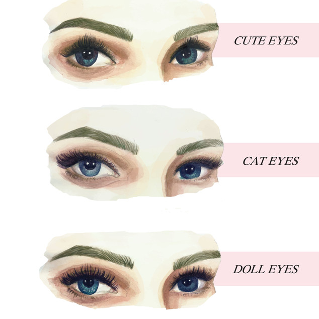 Watercolor - Lashes Options