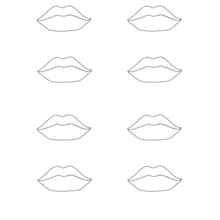 Vector - Lips Template