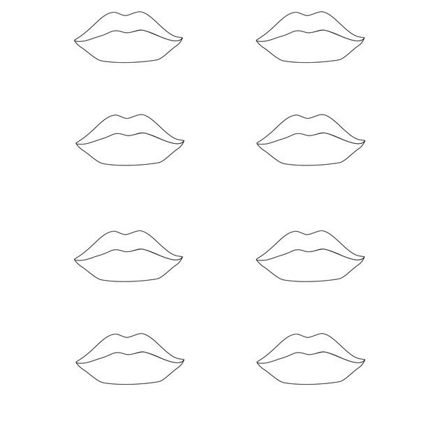Vector - Lips Template