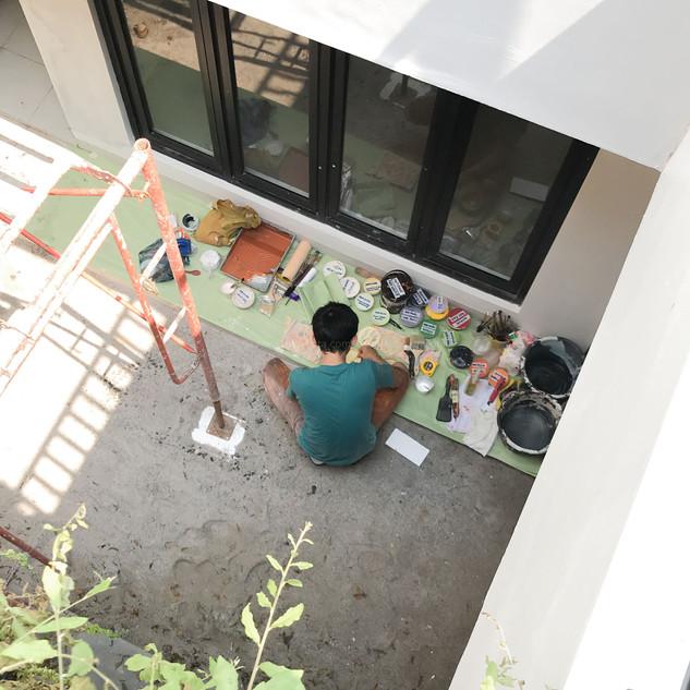 Before Mural -  Preparation