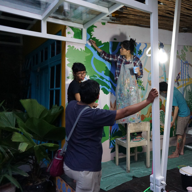 Proses eksekusi mural