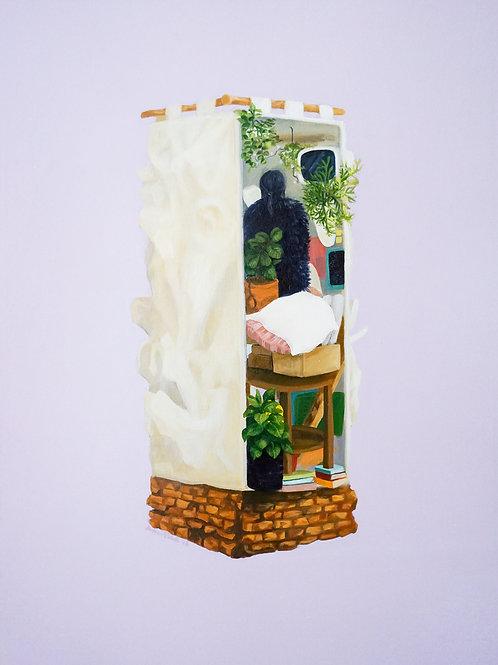 Oil Painting - Dunia Sendiri Tenggelam Sendiri