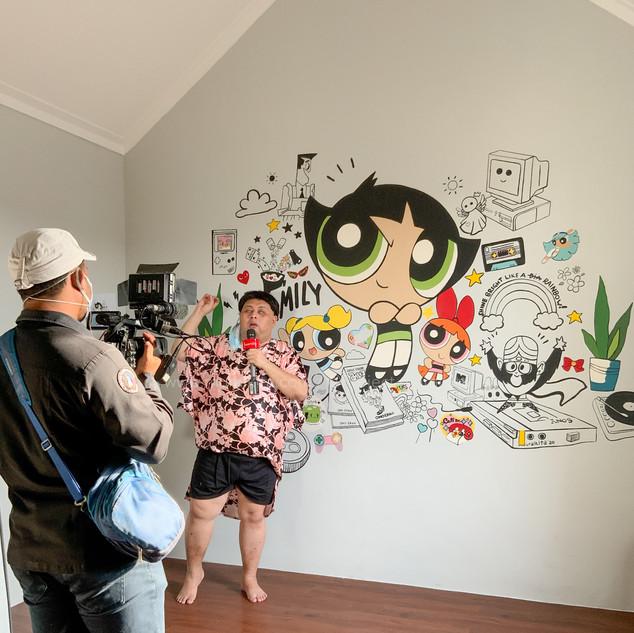 Proses Pembuatan Mural Hari Kedua