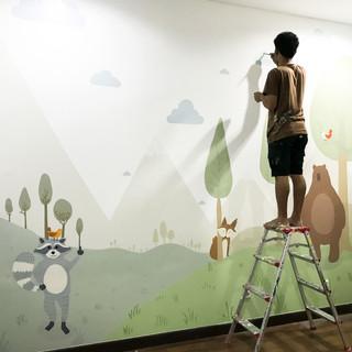 2nd Floor Mural - Kid's Room