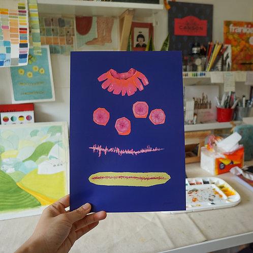 Art Print - Banana! (Blue)