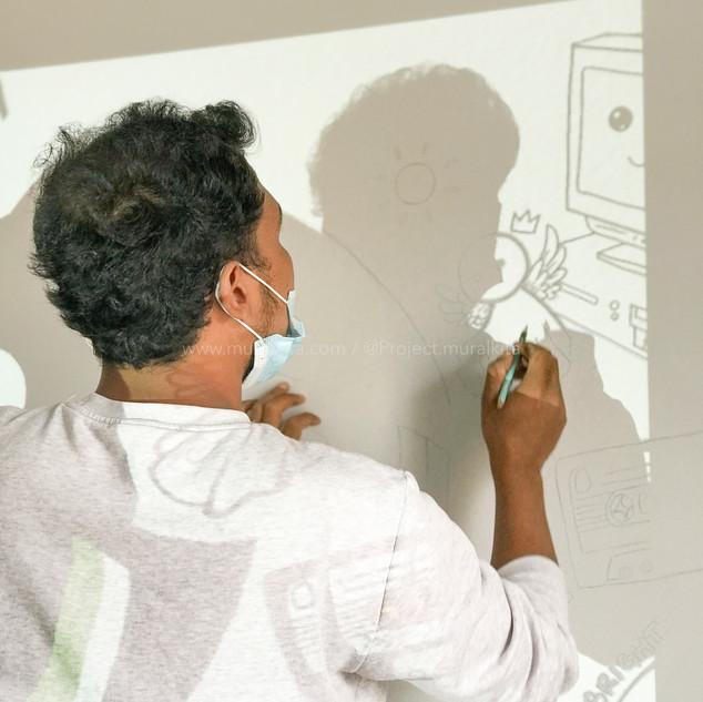 Proses Transfer Design ke Dinding