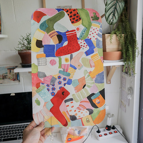 Watercolor Painting - Socks!