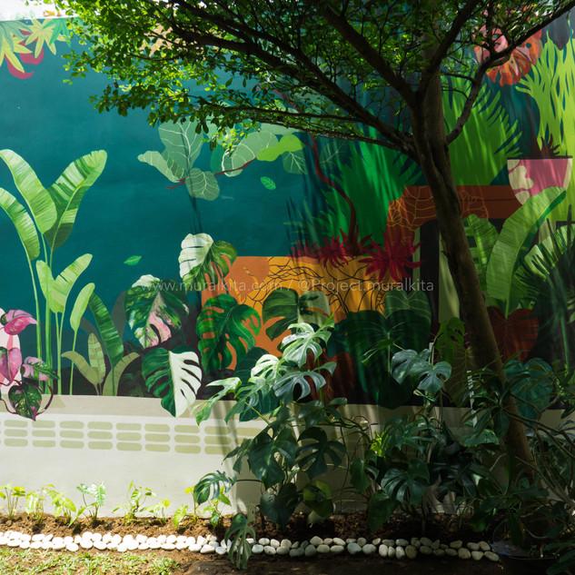Hasil Mural Setelah Finishing