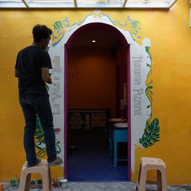 Proses Pengerjaan Mural