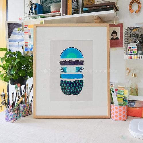 Art Print - Blue Pineapple! (Color Code - NA)