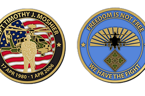 """CPT Timothy J. Moshier 2"""" Challenge Coin"""