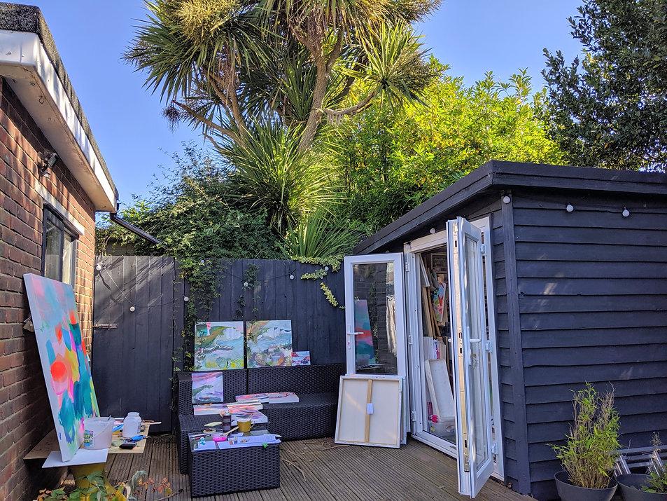 Suzi Lowe Artist studio at home for brig