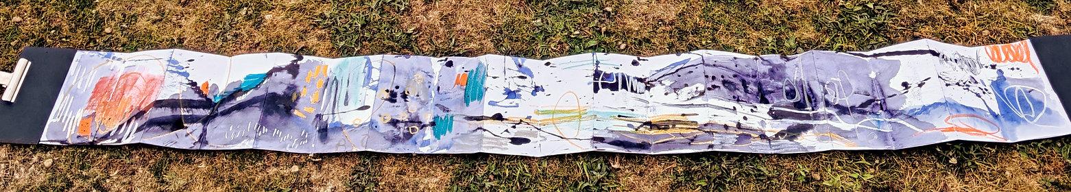 Suzi Lowe Artist expressive marks in con