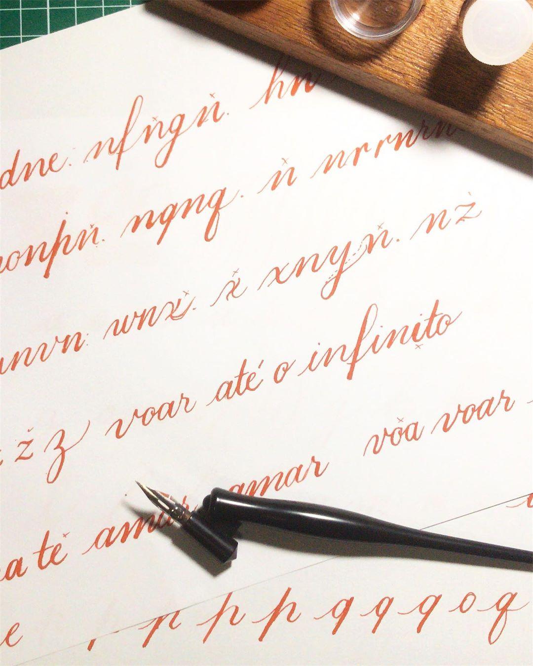 Estudos de caligrafia