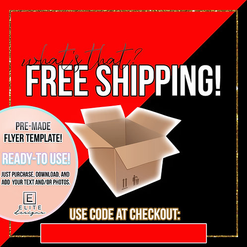 Free Shipping Template - Red