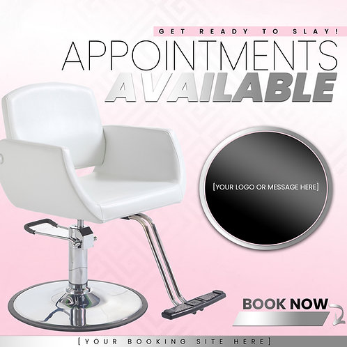 Appointments Available - Pink