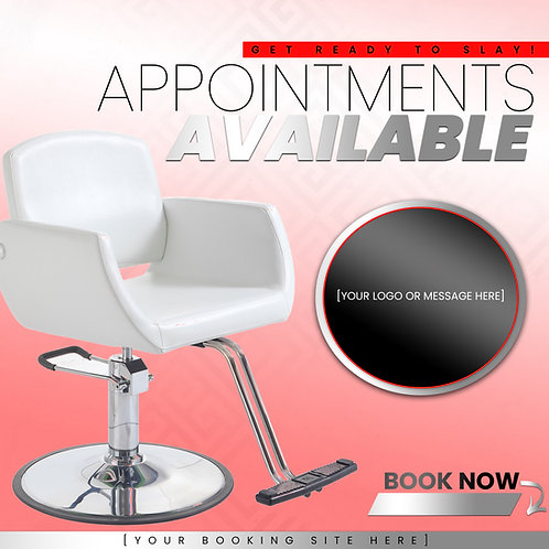 Appointments Available - Red