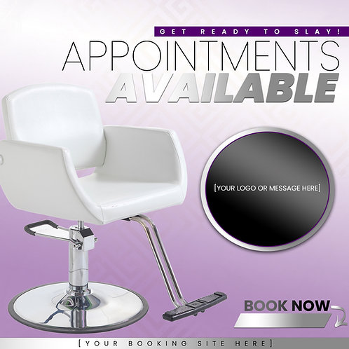 Appointments Available - Purple