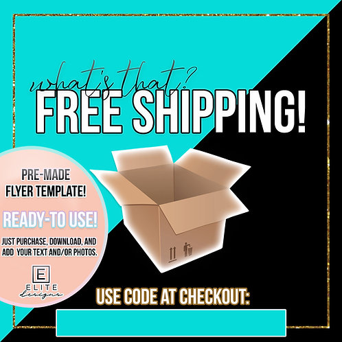 Free Shipping Template - Turquoise