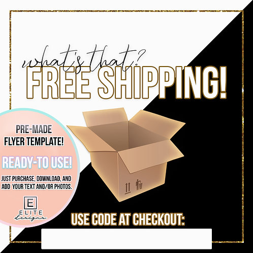 Free Shipping Template - White