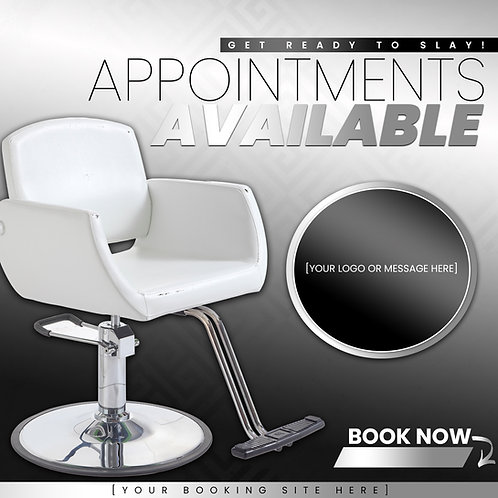 Appointments Available - Silver