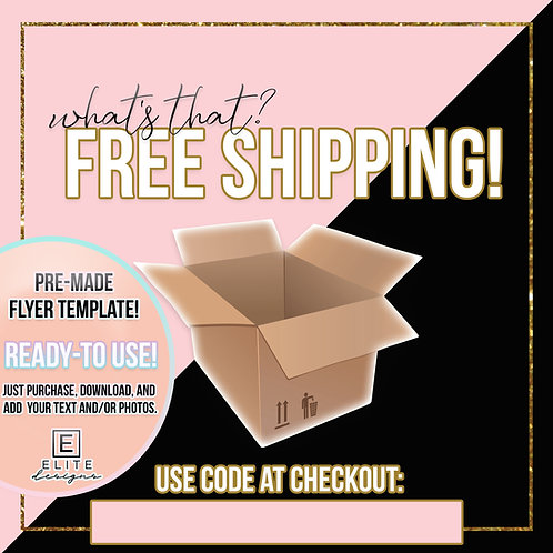 Free Shipping Template - Blush