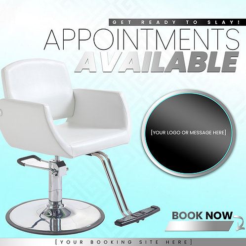 Appointments Available -Turquoise