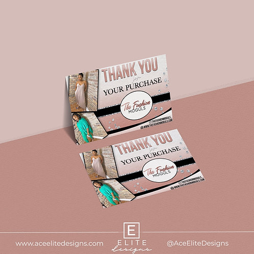 Thank You Cards + Printing